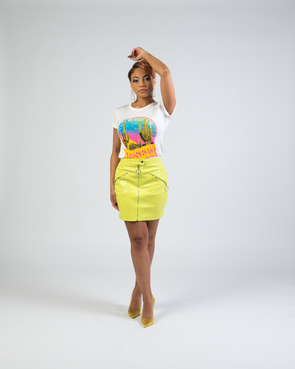 Nihma Mini Skirt | Neon
