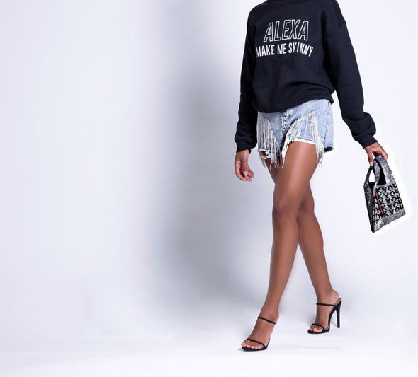 Embelish Me Shorts | Denim
