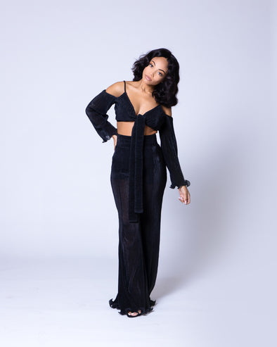Milan Pants Set | Black