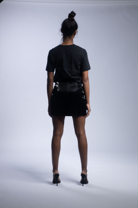 Quinn Safety Mini Skirt | Black