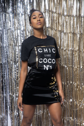 Chic Like Coco T-shirt | Black