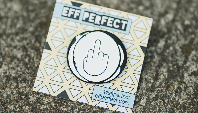 Middle Finger To Perfection Enamel Pin
