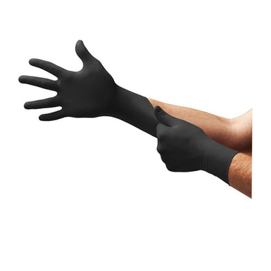 Ansell Microflex Black Dragon Latex Gloves Box 100