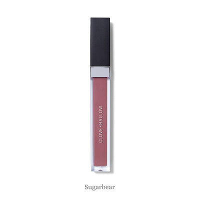 "Clove + Hallow Lip Velvet - Clean, vegan and cruelty-free long wear matte liquid lipsticks in vibrant, flattering, wearable shades.  ""Sugarbear"" is a neutral mauve."