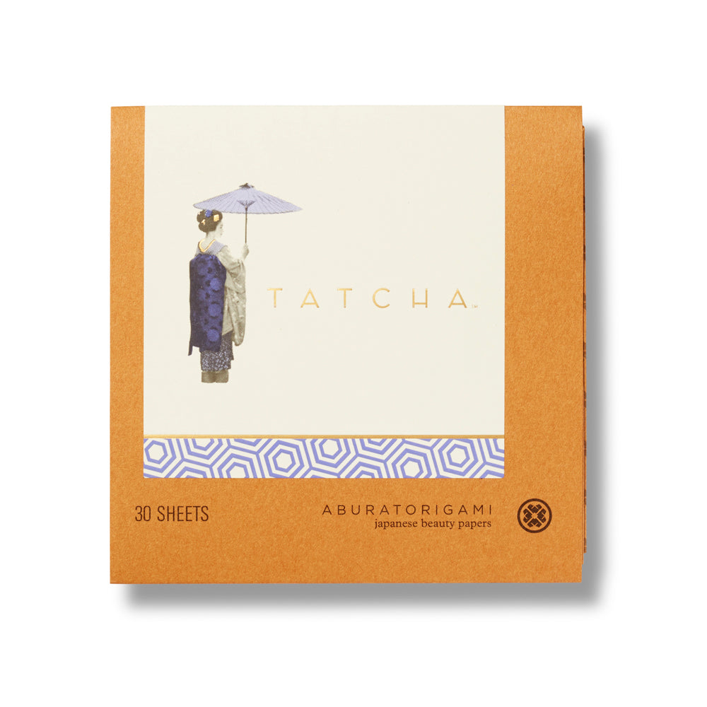 Tatcha Aburatorigami Beauty Papers. Touch up your makeup, without messing up your makeup. Thin blotting papers with real gold embedded into the sheets quickly an easily absorb oil.