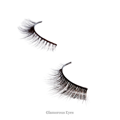 Astraea V. Eyelashes. Imported from Japan. Incredibly realistic, beautifully tapered strip lashes that are reusable. Incredibly fine hairs give a soft, natural look.