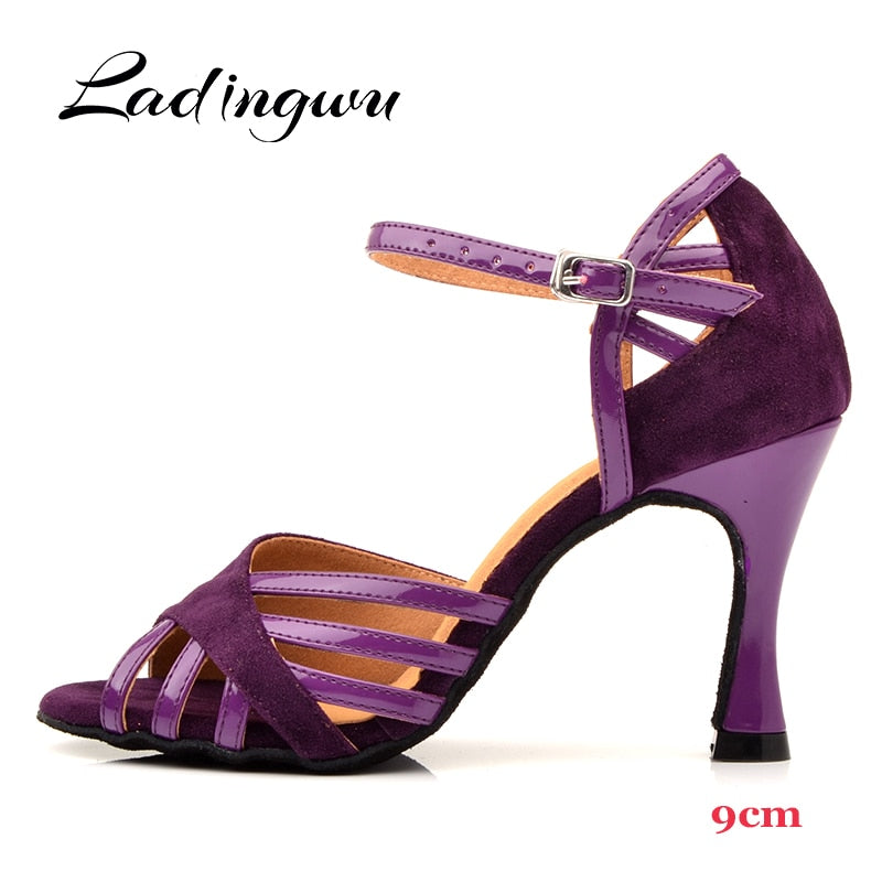 Latin Purple Dance Shoes - Salsarise.com