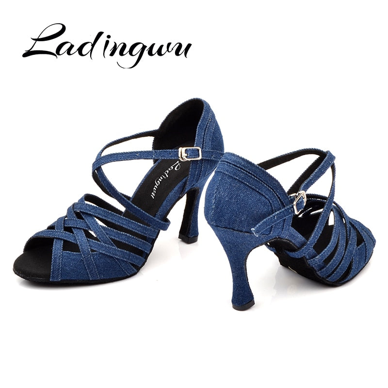Denim  Dance Shoes - Salsarise.com