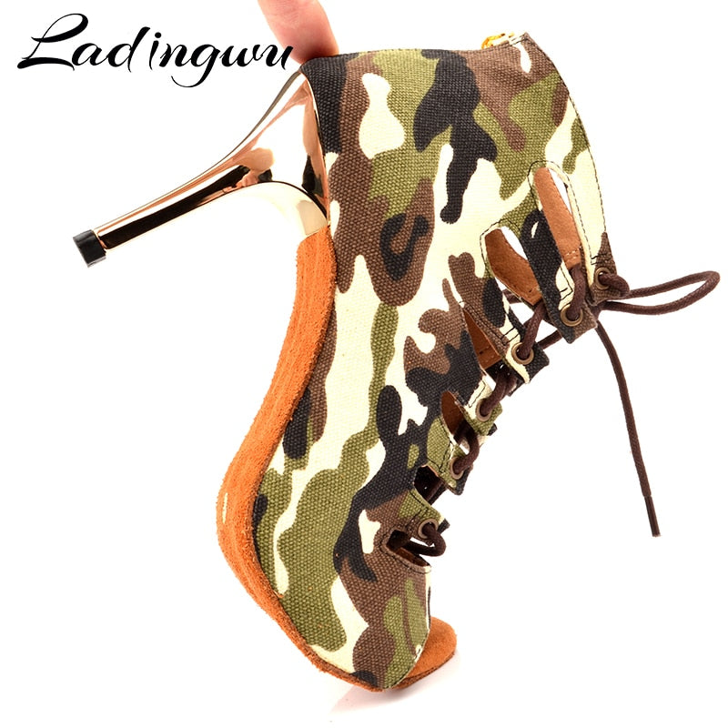 Camouflage Dance Boots - Salsarise.com