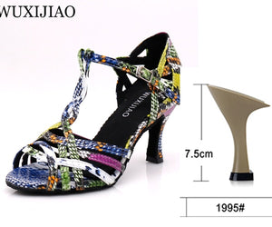 Colorful Serpentine Party Dance Shoes - Salsarise.com
