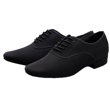 Black Canvas Dance Shoes - Salsarise.com