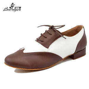 Brown and White Men's Dance Shoes - Salsarise.com