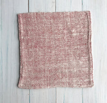 Loom Designs - Pink + Natural Cotton Face Washer