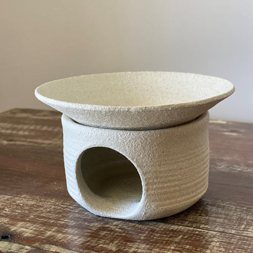 CERAMIC OIL BURNER DISH STYLE - Handcrafted