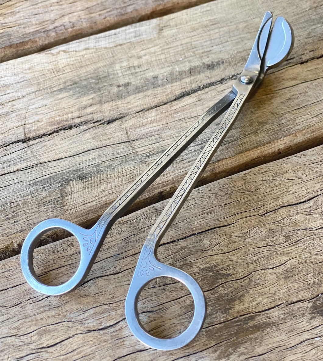 WICK TRIMMERS - STEEL WITH ANTIQUE DETAIL
