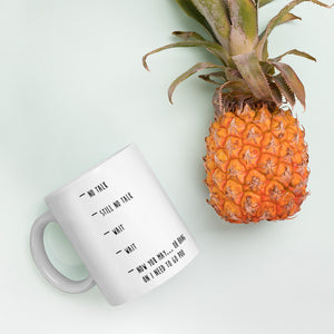 Morning coffee before talking. No exceptions. Coffee mug - gifts for coffee lovers