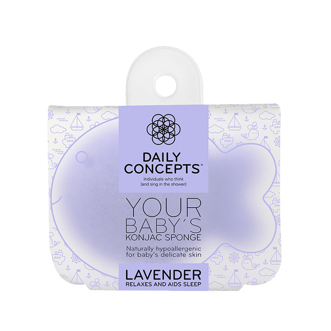 Daily Baby Konjac- Lavender Daily Concepts Luxury Spa Goods