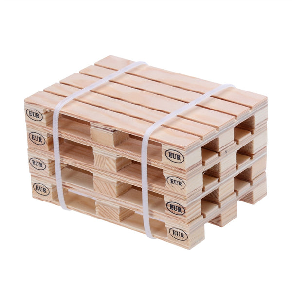 4 piece Mini Pallet Wood Beverage and Drink Coasters