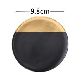 Gold and Black/Marble Non-slip Square Round Hexagonal Coasters