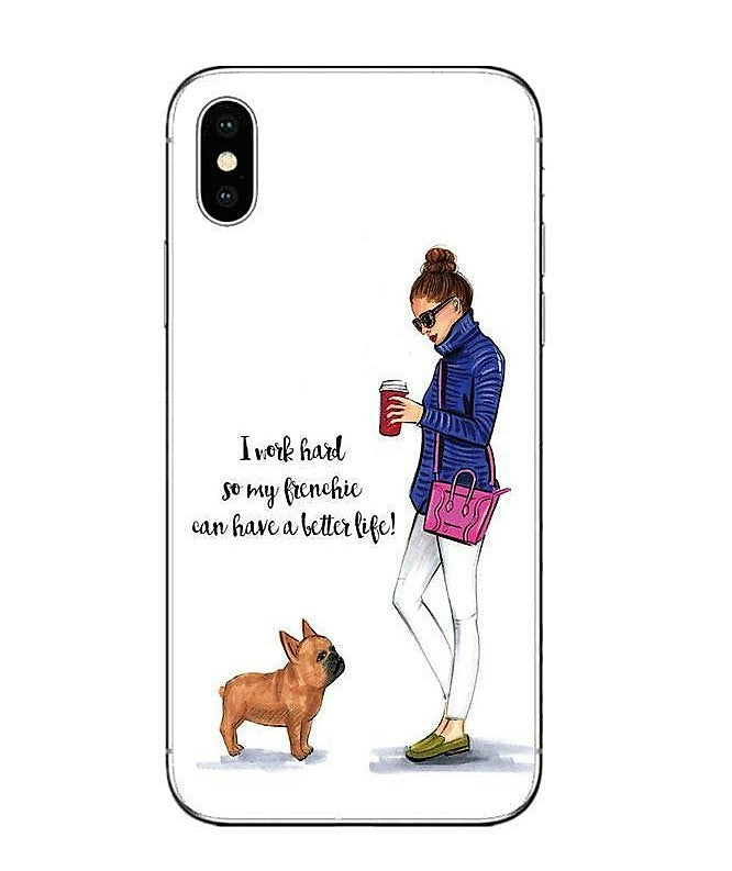 I Work Hard So My Frenchie Can Have A Better Life - Phone Case