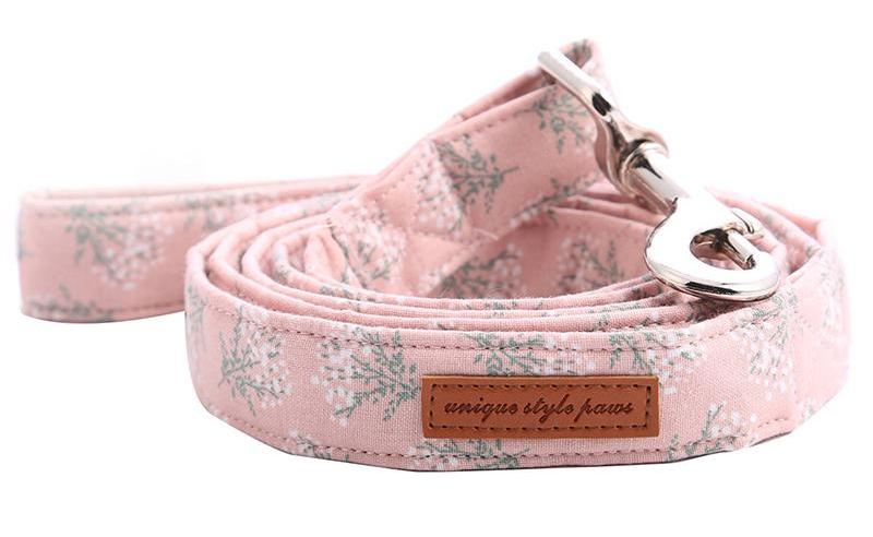 """Pretty In Pink"" Bow Tie Collar & Leash Set"