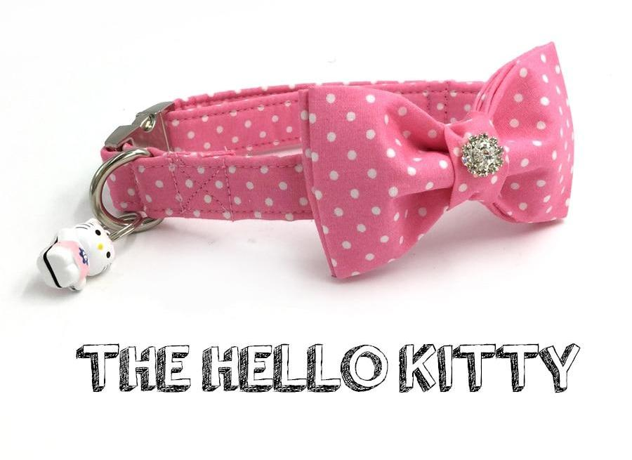 Hello Kitty Pink Bow Tie Collar