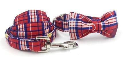 """The Alison"" Bow Tie Collar & Leash Set"