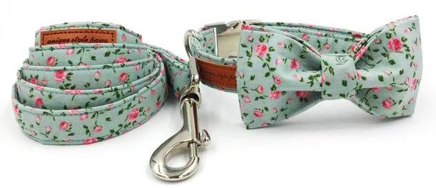 """The Rose"" Bow Tie Collar & Leash Set"