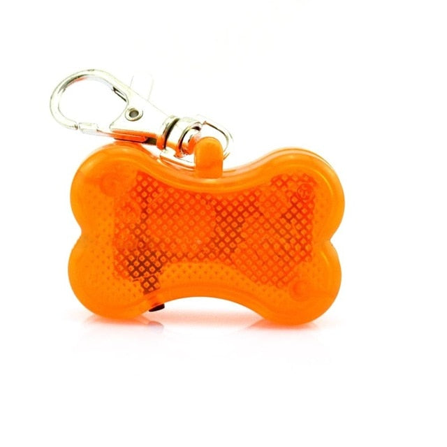 LED Bone Dog Collar Charm