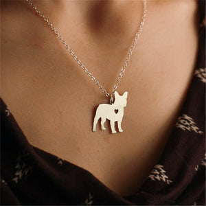 French Bulldog Silhouette Necklace