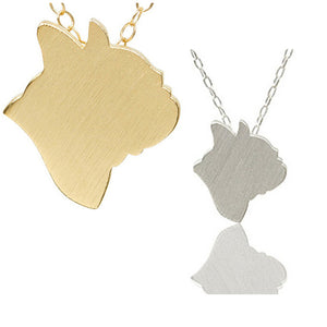French Bulldog Profile Necklace