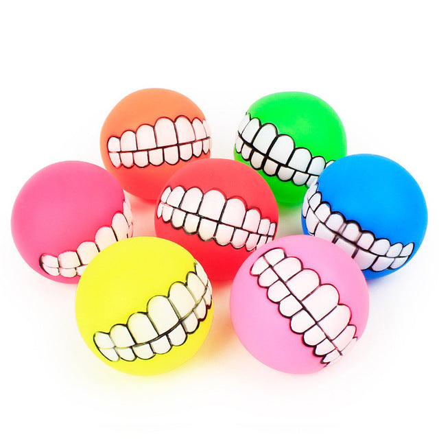 Funny Teeth Squeaker Ball