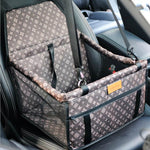 Designer Inspired Dog Car Booster Seat
