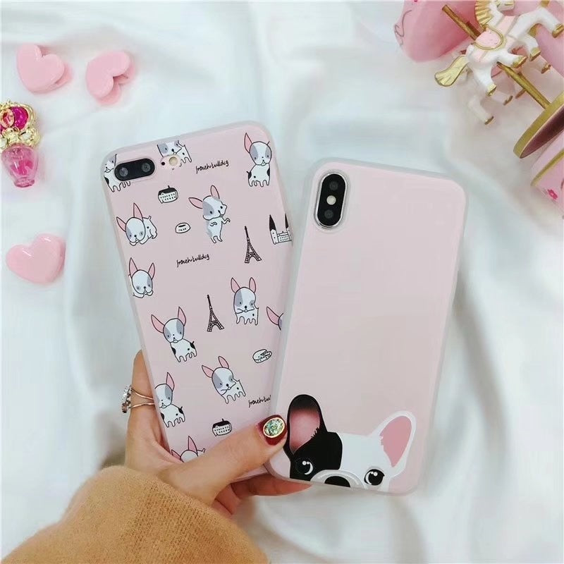 Pink Frenchie IPhone Cases (All Models)