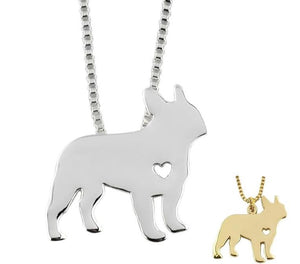 Frenchie Silhouette Necklace