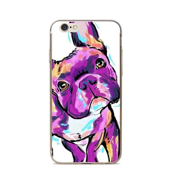 Purple French Bulldog Ball IPhone Case