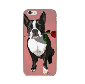 Rose French Bulldog Ball IPhone Case