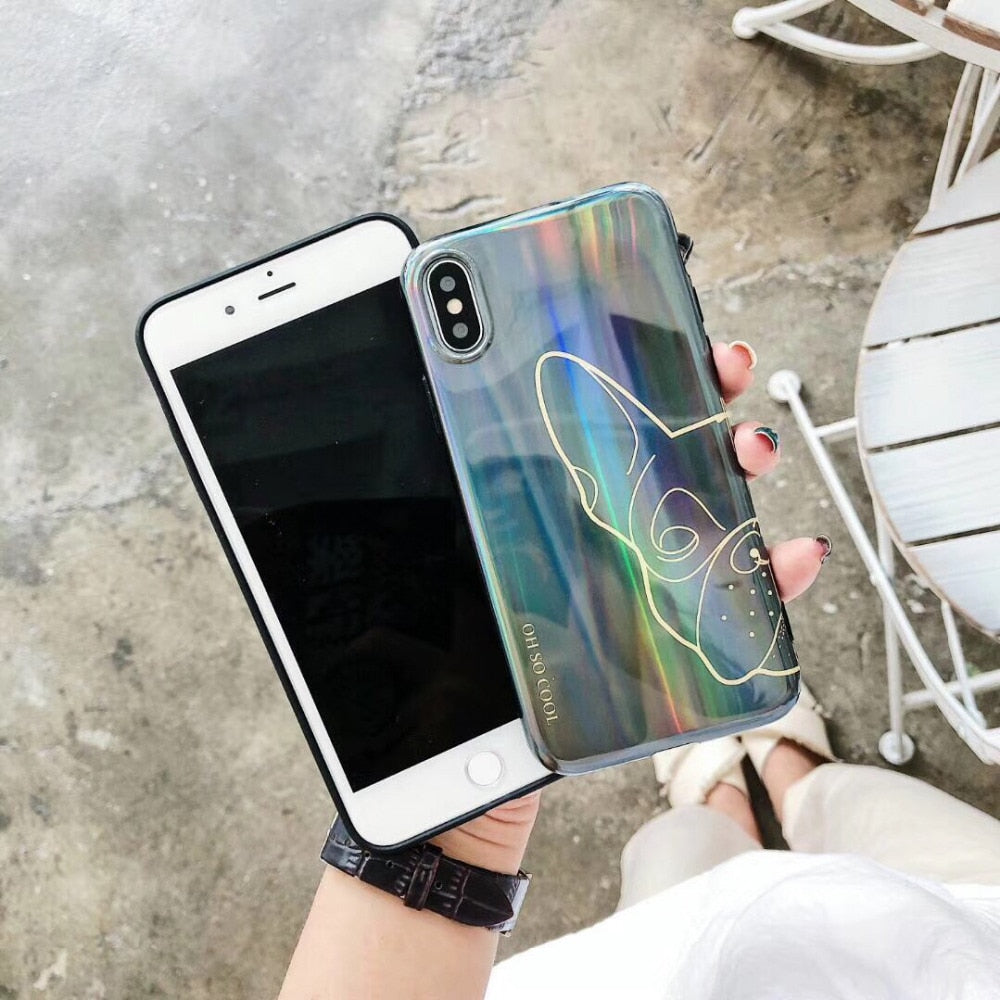 Holographic Frenchie Phone Case