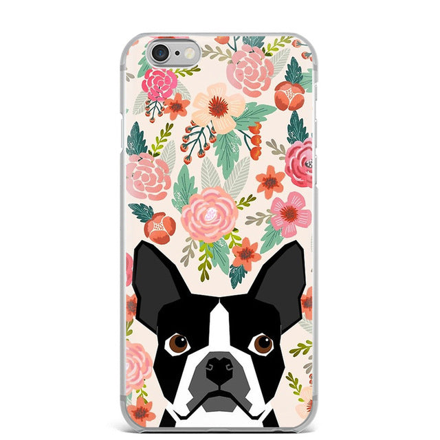 Boston Terrier Floral IPhone Case