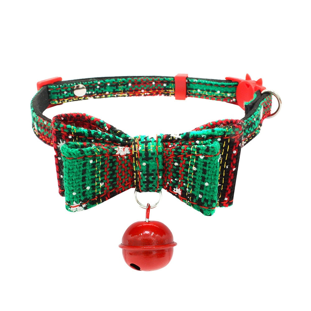 Santa Paws Christmas Bow Collar