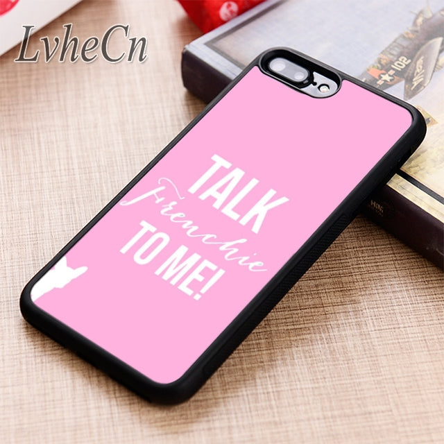 Talk Frenchie To Me! Pink Phone Case