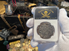 "Load image into Gallery viewer, Mexico 1 Escudo 1710 ""1715 Fleet Shipwreck"" NGC 63 Pirate Gold Coins Treasure"