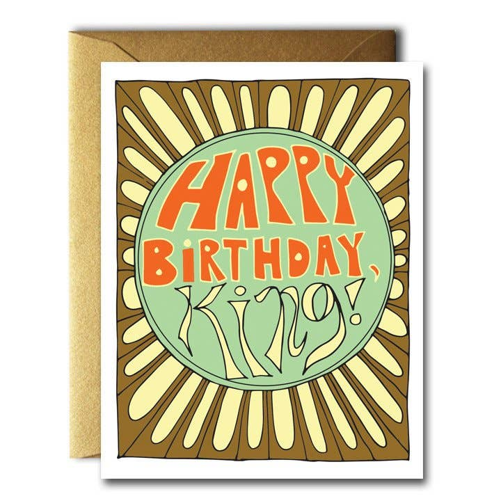 Native Bear - HBD King Card