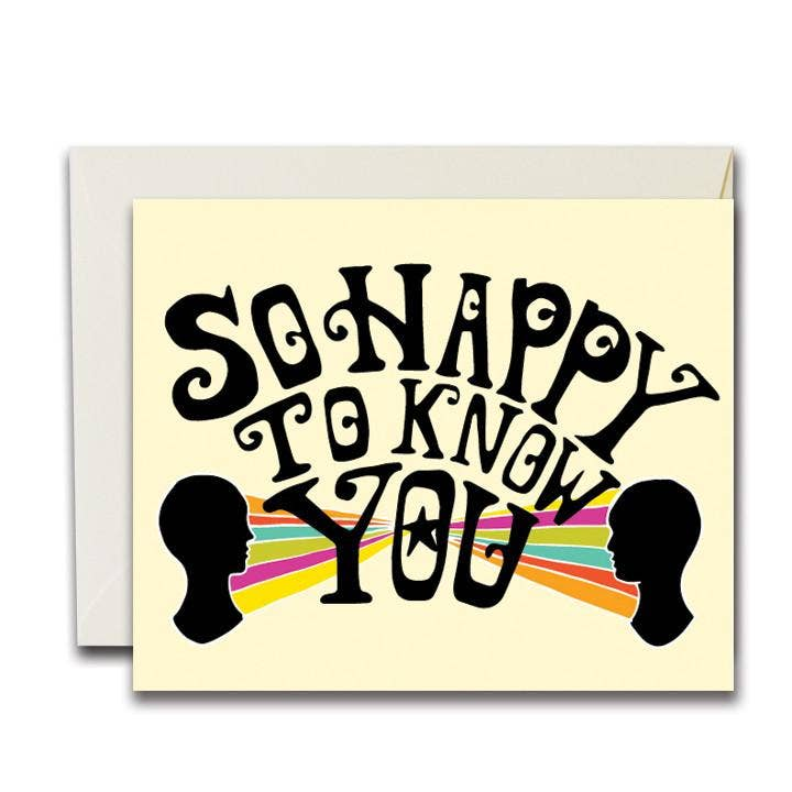 The Rainbow Vision - So Happy To Know You Card