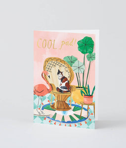 Wrap - 'Cool Pad' Greetings Card