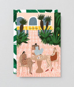 Wrap - 'Jungle Cafe' Art Card