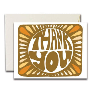 The Rainbow Vision - Monarch - Orange Thank You Card