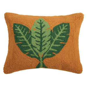 Peking Handicraft - Tropical Leaves Decorative Hook Pillow