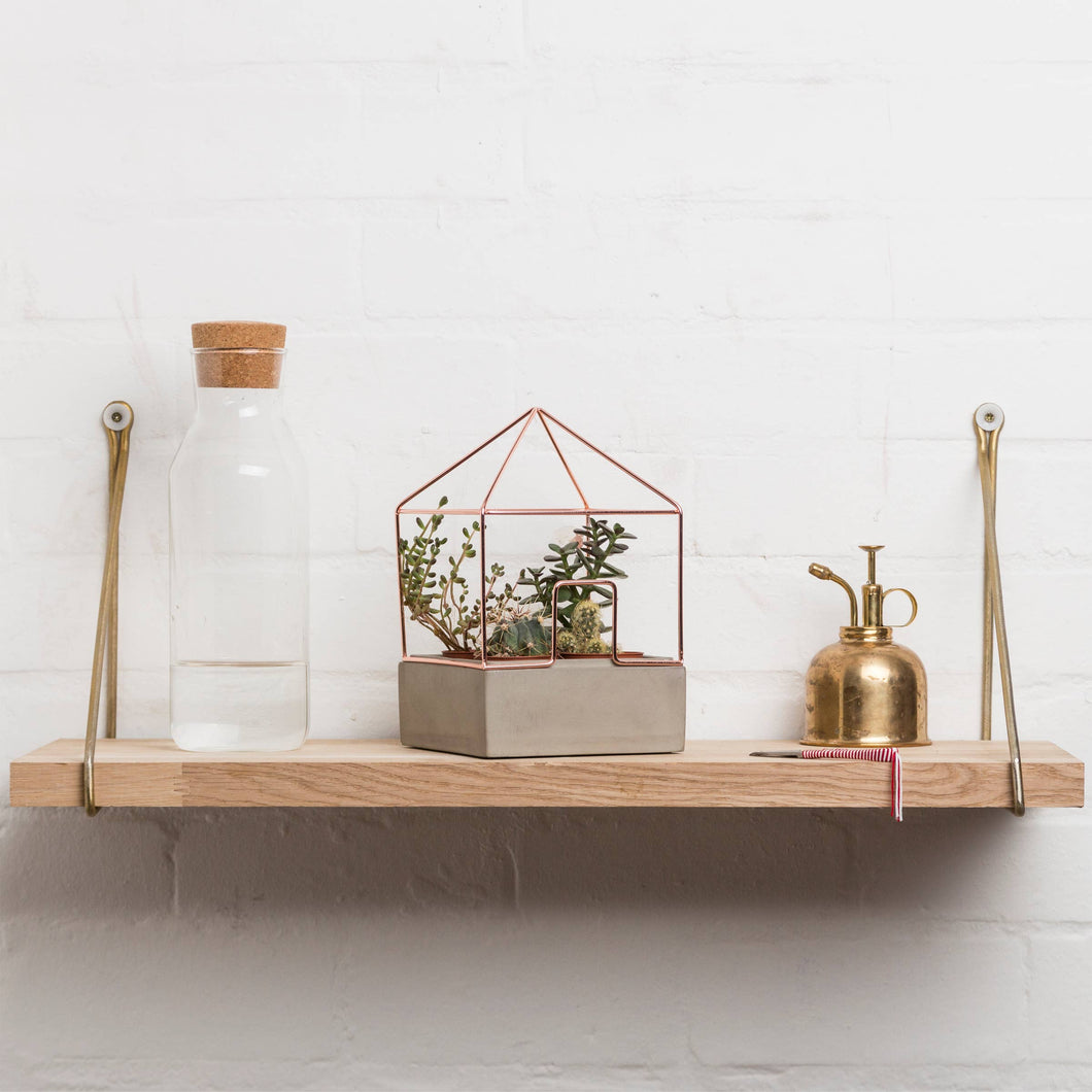 Good Design Works - Planter Copper Concrete House Plant Holder