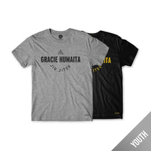 Load image into Gallery viewer, Gracie Humaita College Youth Tee Gray and Black